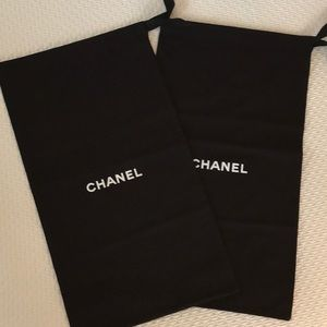 Set Chanel High Boot Dust Storage Bags Black wLogo